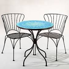 Mosaic Bistro Table Set Turquoise Cadiz Mosaic Bistro Collection Everything Turquoise