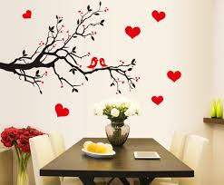 online get cheap heart wall paper aliexpress com alibaba group 2016 pvc wall art wall quote sticker sweet heart birds on brunches removable decor mural decals