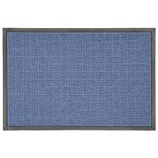 Recycled Rubber Tiles Home Depot by Trafficmaster 23 5 In X 35 5 In Blue Rubber Commercial Door Mat