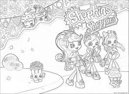 shopkins shoppies girls coloring pages printable
