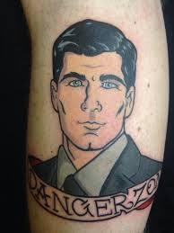 tattoo of sterling archer done by lee