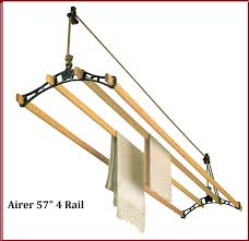 ceiling clothes dryer vintage drying rack pulley rail airers