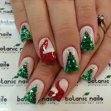 christmas gel nails christmas decore