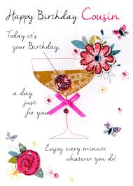 cousin birthday card cousin happy birthday greeting card cards kates