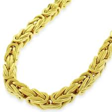 gold necklace box images 14k yellow gold 5 5mm hollow byzantine box link necklace chain 20 jpg