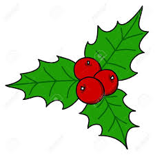 holly berry christmas hand writing cartoon royalty free cliparts