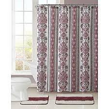 Burgandy Shower Curtain Shower Curtains U0026 Liners Kmart