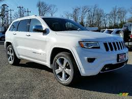 white jeep 2016 2016 bright white jeep grand cherokee overland 4x4 111105710