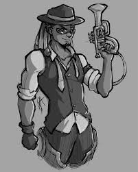Based Off Of by I Drew A Jazz Mucisian Lucio Based Off Of Flynt Coals U0027 Design