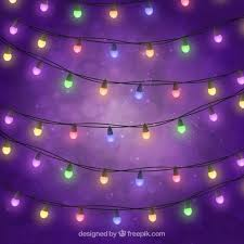 colored lights on purple background vector free