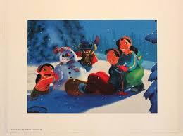 stitch david nani snowday lithograph print 11