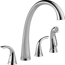 kitchen faucet spout delta faucet 2480 dst pillar two handle widespread kitchen faucet