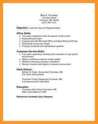 Sample Resume Customer Service Samples Resumes For Customer Service Resume Template And