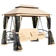 aosom rakuten outsunny outdoor 3 person patio daybed canopy