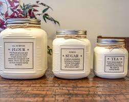 vintage style kitchen canisters kitchen canisters etsy