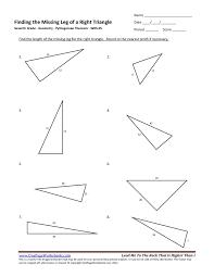 seventh grade pythagorean theorem worksheet 05 u2013 one page worksheets