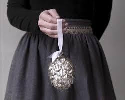 silver mercury glass pine cone ornament smile mercantile craft co