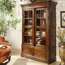 Wood Bookcase With Doors Riverside Furniture Bristol Court Sliding Door