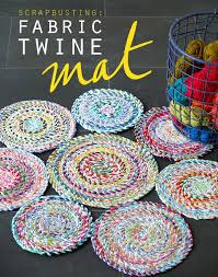 Handmade Fabric Crafts - fabric twine spiral mat my poppet makes