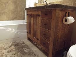 bathroom wood bathroom vanities 35 rustic brown stained teak