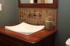 Modern Small Bathroom Sink Ideas  The Homy Design - Bathroom sink backsplash