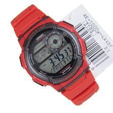 World Map Watch Casio Quartz 5 Alarms Watch Ae 1000w 3avdf