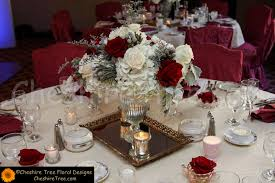 Burgundy Wedding Centerpieces by Red And Burgundy Designs Cheshire Tree Floral Designs