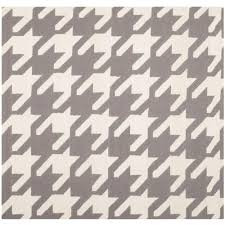 safavieh dhurries grey ivory 6 ft x 6 ft square area rug dhu569a
