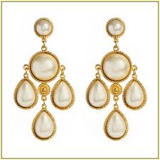 and pearl chandelier pearl and gold chandelier earrings home design ideas
