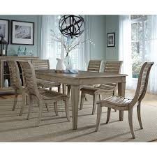 liberty furniture grayton grove 7 piece wooden dining table set