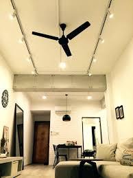 track light ceiling fan combo ceiling fans ceiling fan with track lighting stylish track light