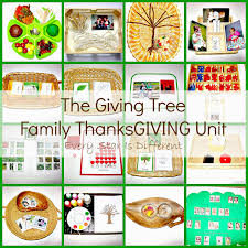 thanksgiving vocabulary words the giving tree family thanksgiving unit every star is different