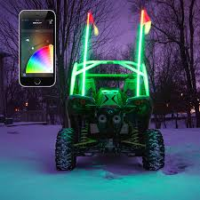 app controlled car lights xkchrome ios android app bluetooth smartphone control 2x led whip