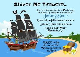 pirate ship baby shower invitations candles and favors