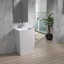 Built In Bathroom Vanity Flooring Ideas Minimalist Bathroom Design With Bamboo Bathroom