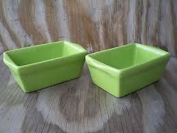 celebrate it ceramic stoneware set of 2 green mini loaf pans