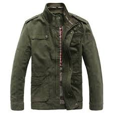 Jeep Rich Men Outdoor Autumn Cotton Blend Zipper Warm Coat Jacket