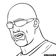 pro wrestling coloring pages 1