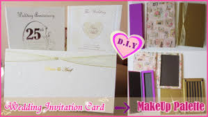 Wedding Invitation Card Diy Diy Makeup Palette From Wedding Invitation Card Cardboard In