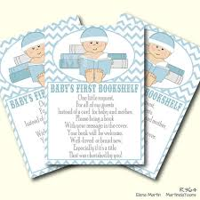 Bring Book Instead Of Card To Baby Shower Blue Chevron Book Request Baby Shower Insert Baby Boy Bring A