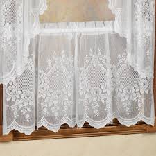 cameo rose lace tier window treatments