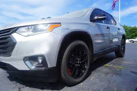 chevrolet traverse blue 2018 chevrolet traverse red line edition firs one on the lot