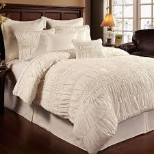 Pottery Barn Comforters Ruched Floral Cotton Bedding Comforter Set Walmart Com White