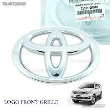 logo toyota fortuner front chrome grille grill logo emblem badge toyota fortuner suv