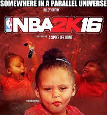 New Nba Memes - riley curry on the cover of nba 2k16 warriors http