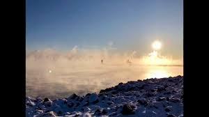 lake superior sea smoke sea smoke rises over lake superior in duluth minnesota youtube