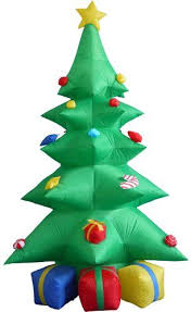 indoor lighted gift boxes 8 foot tall lighted christmas inflatable green tree with