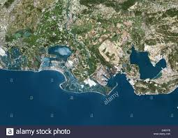 Map Southern France by Rhone Delta France True Colour Satellite Image True Colour