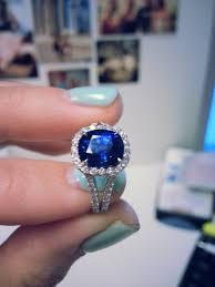 5 Carat Cushion Cut Engagement Rings Choice Between 2 Sapphire Rings Pics Please Weddingbee