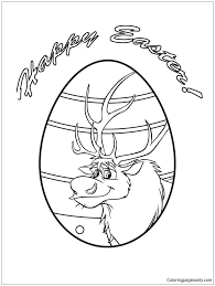 sven easter egg design coloring page free coloring pages online
